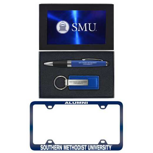 SET-A3-SMU-BLU: LXG Set A3 pen KC Tag, Southern Methodist